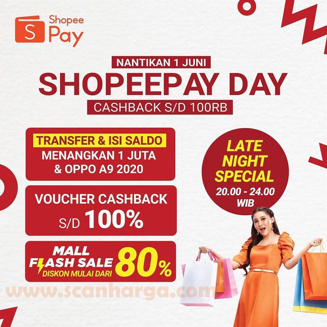 Promo Shopeepay Day Terbaru Hanya Hari Ini 1 Juni 2020 Scanharga
