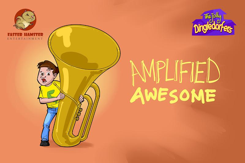 animated cartoon series title illustration