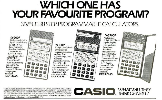 3,14159265358979323....DAMICALC: CASIO fx-180P