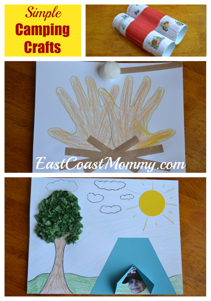 So today I am sharing some  indoor  c&ing crafts and activities that are simple and fun... and you wonu0027t even need to put up a tent.  sc 1 st  East Coast Mommy & East Coast Mommy: Camping Crafts and Activities