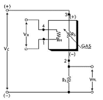 Rangkaian percobaan sensor gas TGS 2610