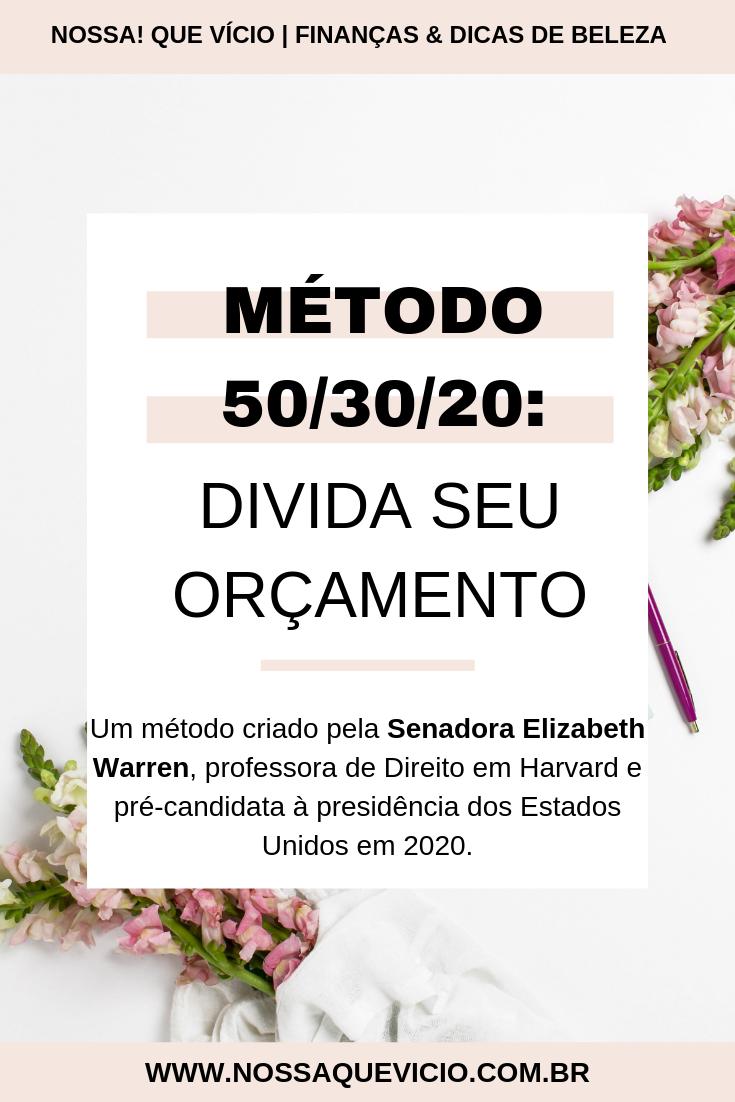 COMO DIVIDIR O ORÇAMENTO EM PORCENTAGEM: MÉTODO 50/30/20