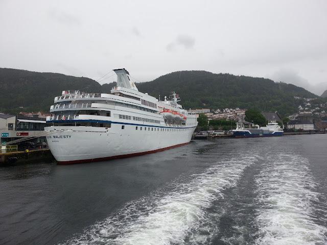 Cruise ship Ocean Majesty in Bergen, Norway