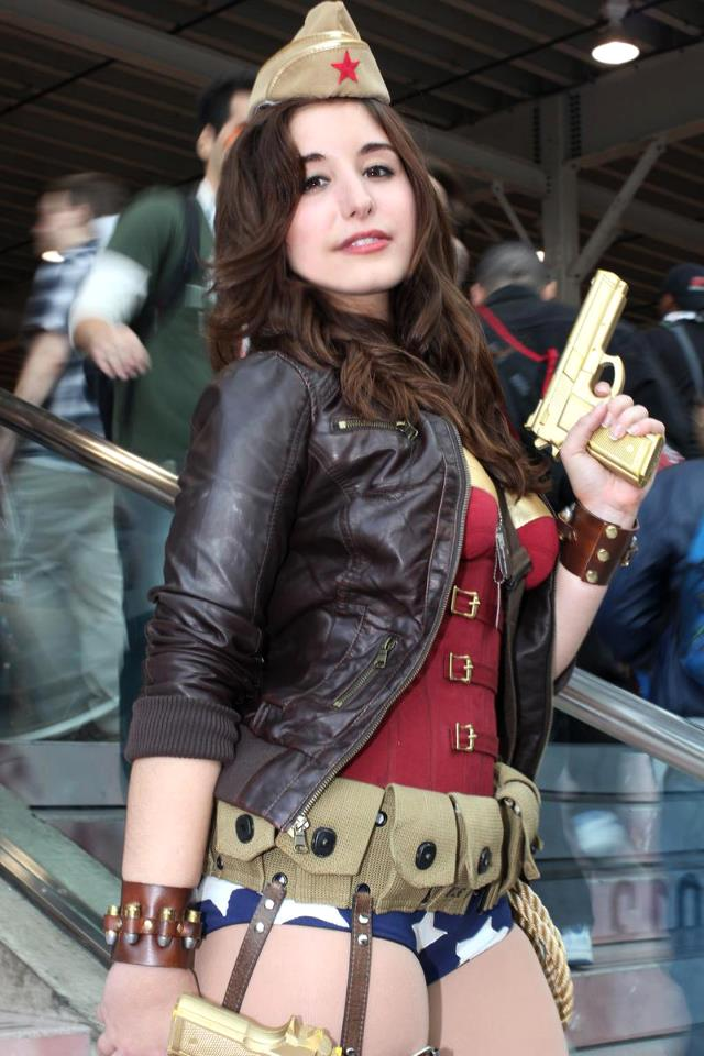9f6a113735e Fashion and Action  WWII Wonder Woman Cosplay by Jessica Lynn   NYCC ...