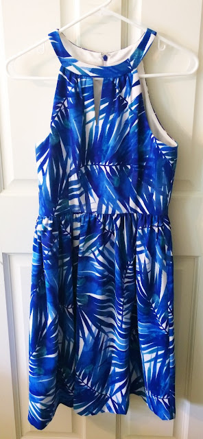Stitch Fix Review Blue Palm Print Dress