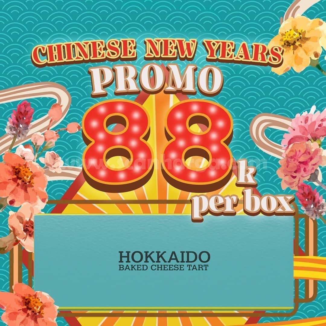 HOKKAIDO BAKED CHEESE TART Promo Chinese New Year harga 88K Per Box