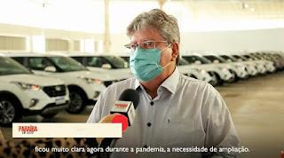 Governo da Paraíba entrega mais 178 veículos para saude paraibana.