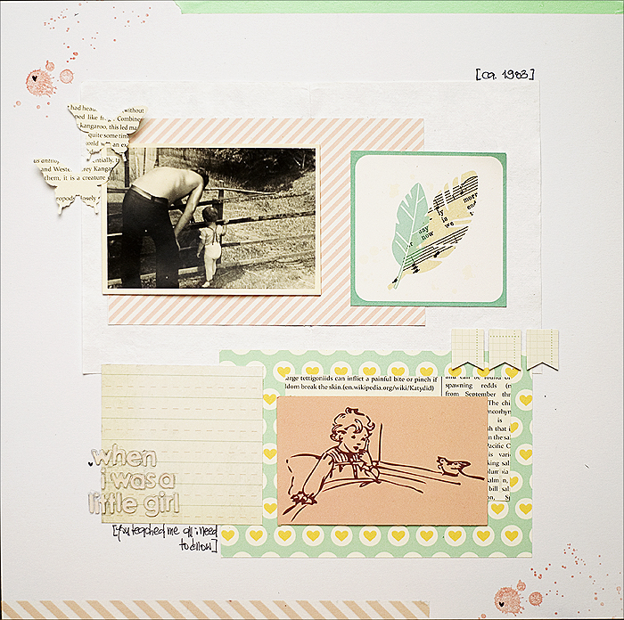 Scrapbooking Layout - When i was a little girl