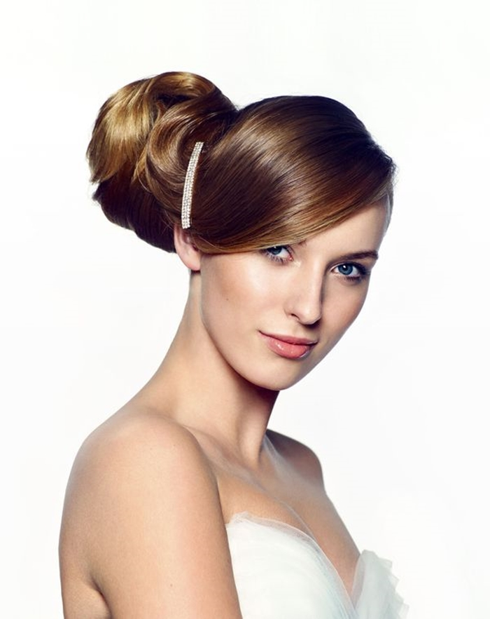bridal bun hairstyle, updo