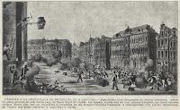 Strijdlustige taferelen op de Grote Markt van Brussel op 26 augustus 1830