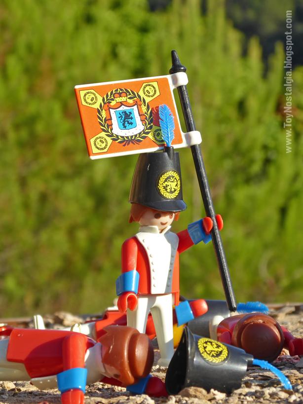 Playmobil 3544, soldado casaca roja con estandarte  (Playmobil 3544 - redcoats)
