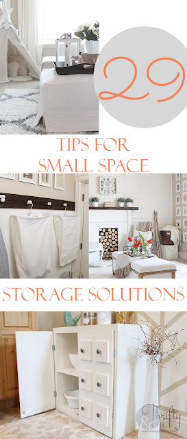 29 tips on how to maximize your small space and get the most out of storage! Great small space storage solutions. Great article especially if you are short on closet space!