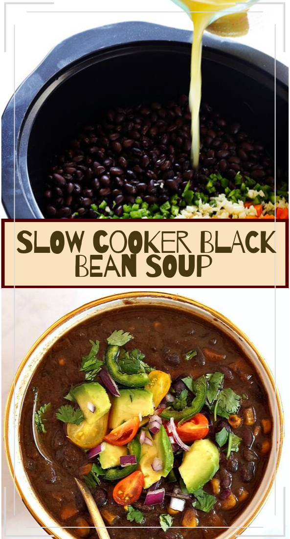 SLOW COOKER BLACK BEAN SOUP #dinnerrecipe #food #amazingrecipe #easyrecipe