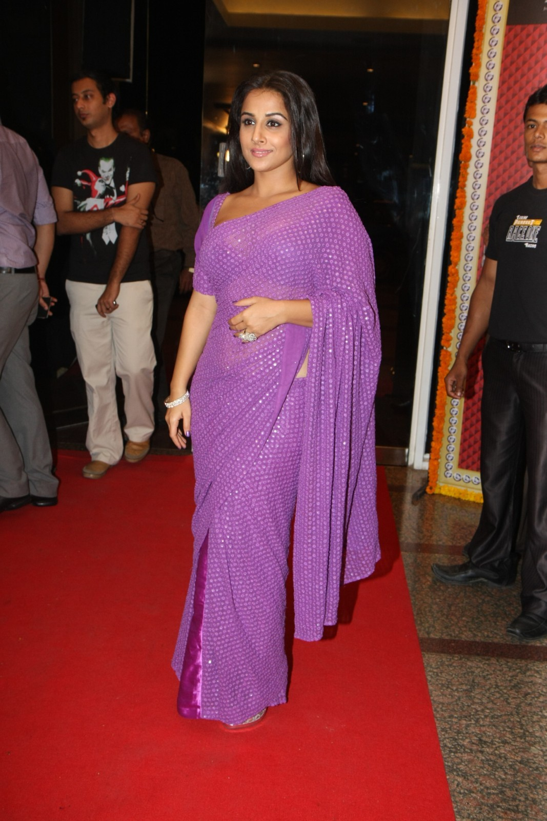 High Quality Bollywood Celebrity Pictures Vidya Balan Sexy In Transparent Saree At The 7Th Anniversary Party Of Star News Show Saas Bahu Aur -4036