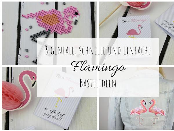 DIY: 3 geniale, schnelle und einfache Flamingo Bastelideen - in nur wenigen Schritten selber gemacht (+kostenlose Vorlage)