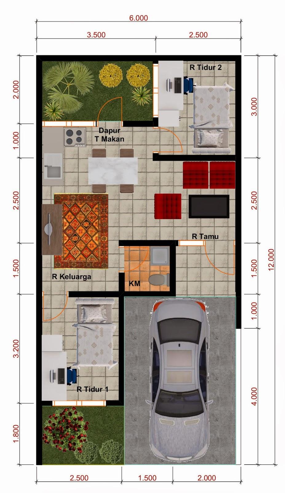 Desain Denah Rumah Minimalis Type 40 Wallpaper Dinding