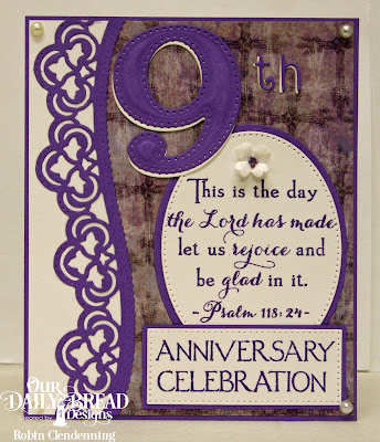 Stamp Set: Celebration, Custom Dies: Large Numbers, Numbers, Leafy Edged Borders, Pierced Ovals, Ovals, Pierced Rectangles, Bitty Blossoms, Paper Collection: Christian Faith