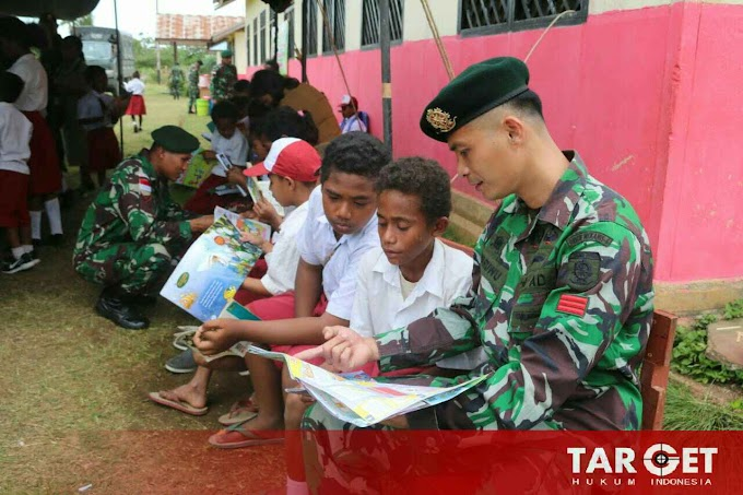 Perpustakaan Keliling Tentara Kembali Datangi Sekolah di Perbatasan