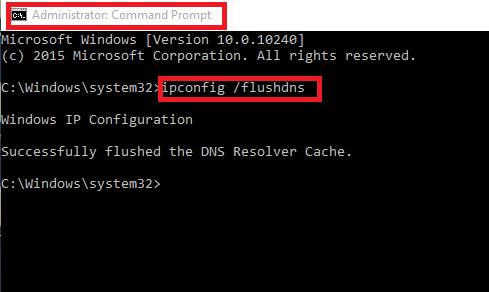 How to clear or Flush DNS Cache in windows 10