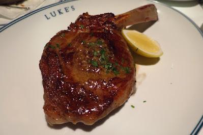 Luke's Oyster Bar & Chop House, dutch veal chop
