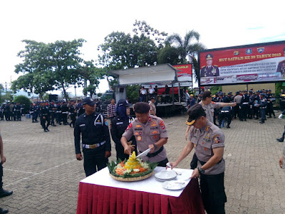 Upacara Hari Ulang Tahun (HUT) Satpam Ke-39 bersama sejumlah Satpam, TNI, Sat Pol PP, Senkom, dan Polri serta dinas terkait