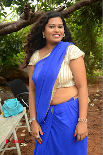 Actress Maggi Meghna Pictures in Saree at Lovers Park Movie Opening  0047.JPG