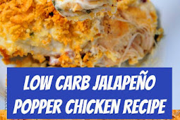 Low Carb Jalapeño Popper Chicken Recipe #lowcarb #jalapeno #chicken #easyrecipe #dinner #keto