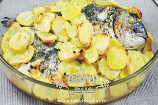 سمك دنيس مع البطاطس لذيذة وسهلة التحضير