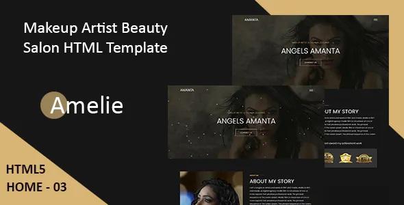 Best Makeup Artist & Model Portfolio HTML Template
