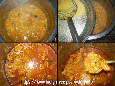 Method of making Mutton Korma.