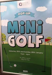 Pop Up Mini Golf at the Castle Quarter in Norwich