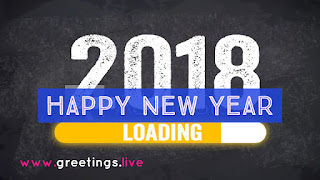 2018 New Year Loading concept greeting
