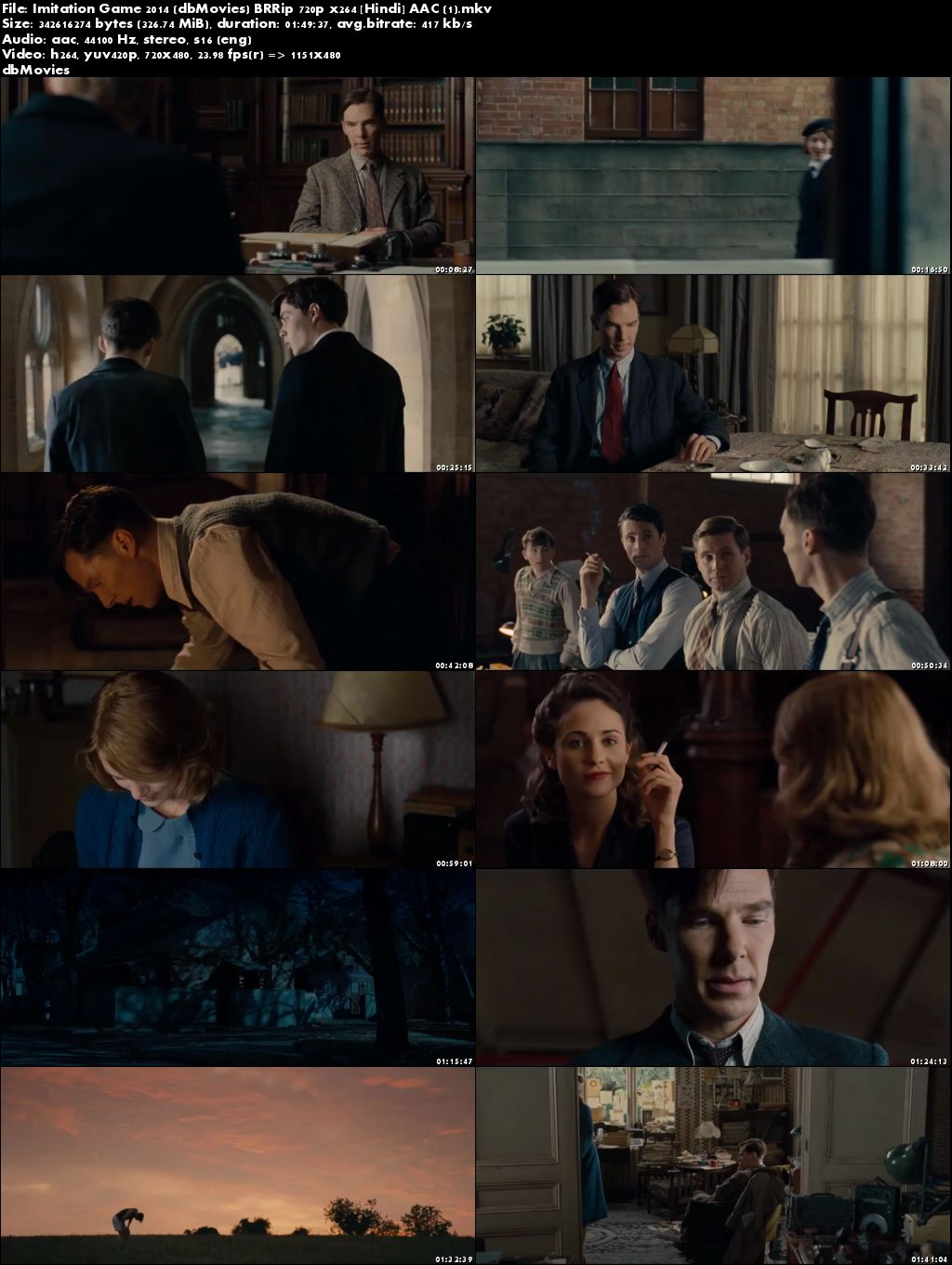 Screen Shots The Imitation Game 2014 Full Movie Download Hindi Dubbed 300Mb