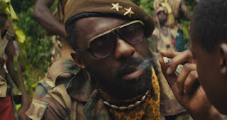 Netflix film Beasts of No Nation, Elba plays a warlord Commandant commanding child soldiers