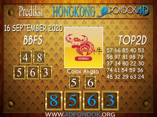 Prediksi Togel HONGKONG PONDOK4D 16 SEPTEMBER 2020