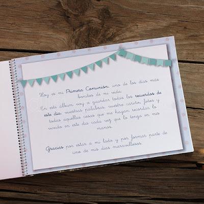 Libro firmas personalizado Primera Comunión