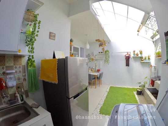 Interior rumah kecil nan cantik dengan indoor garden