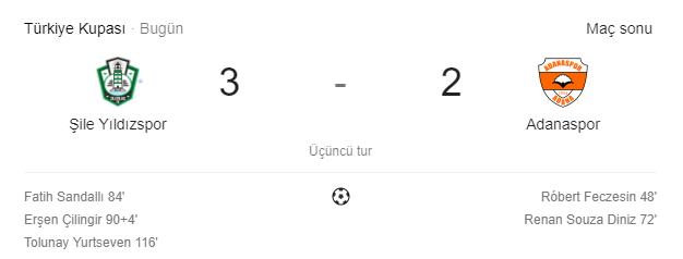 Şile Yıldızspor 3.Tur'da, Adanaspor'u Yenerek Bir Üst Tura Yükseldi