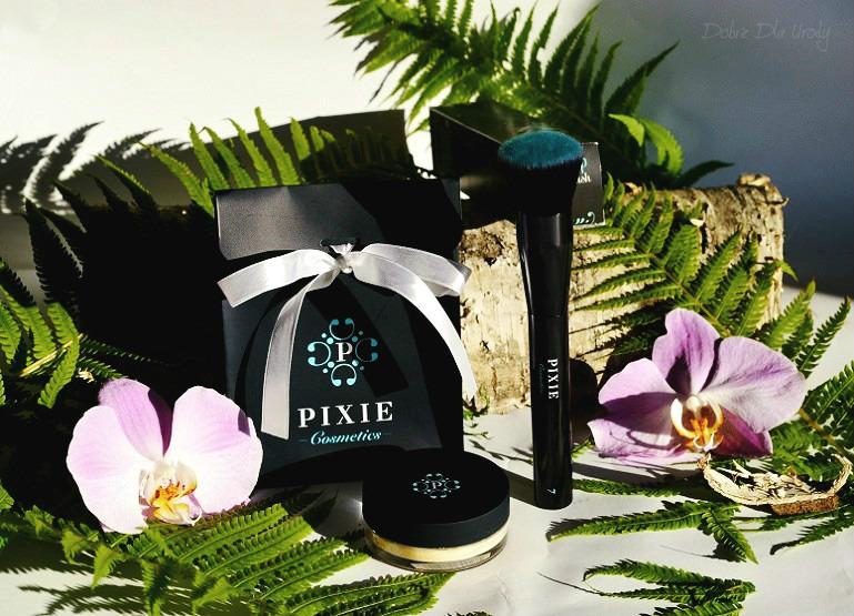 Zestaw Podkład mineralny Minerals Love Botanicals oraz Pędzel do twarzy Flat Top Buffing Brush Pixie Cosmetics