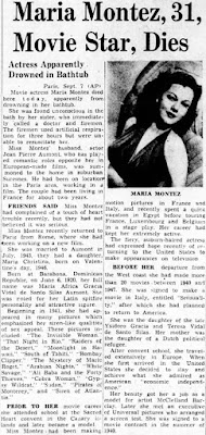 Maria Montez Death
