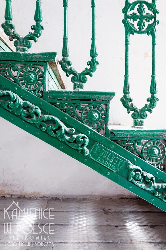 Radom. Klatka schodowa. Kamienica. Architektura. Żeliwne schody. K. Bolesta Radom.