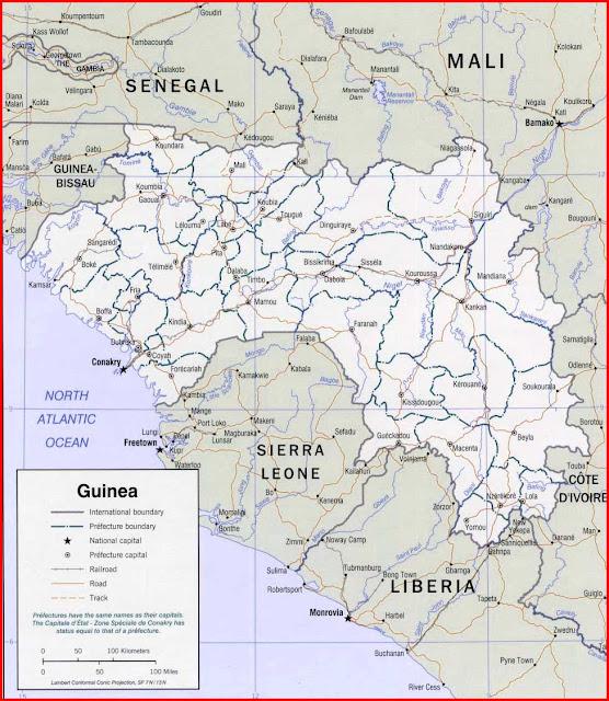 Gambar Peta politik Guinea