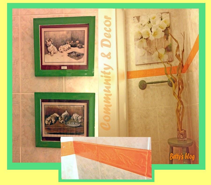 Bricolaje para pintar cenefa antigua del baño