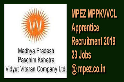 MPEZ MPPKVVCL Apprentice Recruitment 2019 -23 Jobs- mpez.co.in