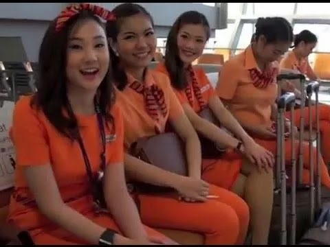 This is a Real Female Thai Flight Attendant