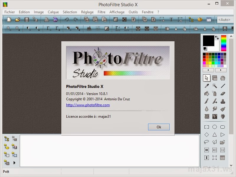 photofiltre studio x avec serial