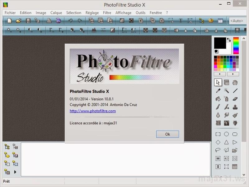 photofiltre studio x serial