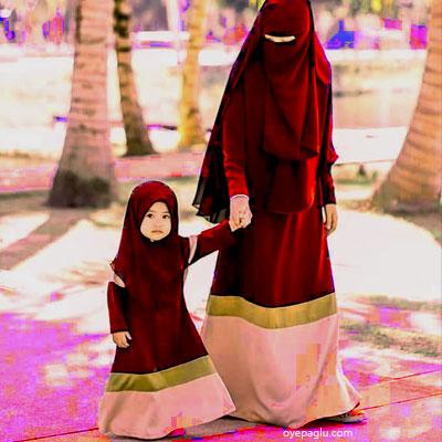 hijab small sweet child muslim girls dp