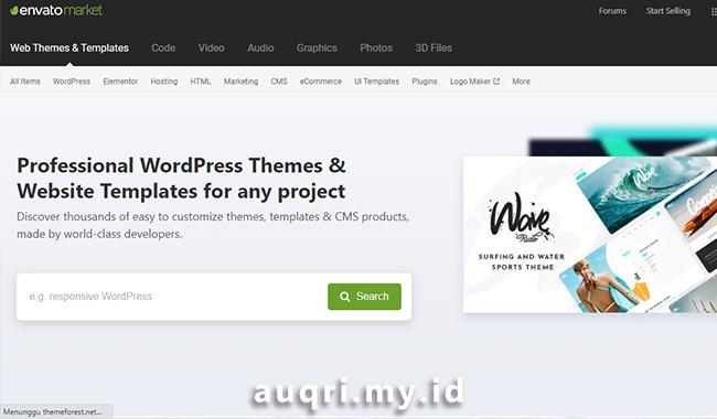 Themeforest -  Situs Rekomendasi Download Template Blogger Premium dan Gratis