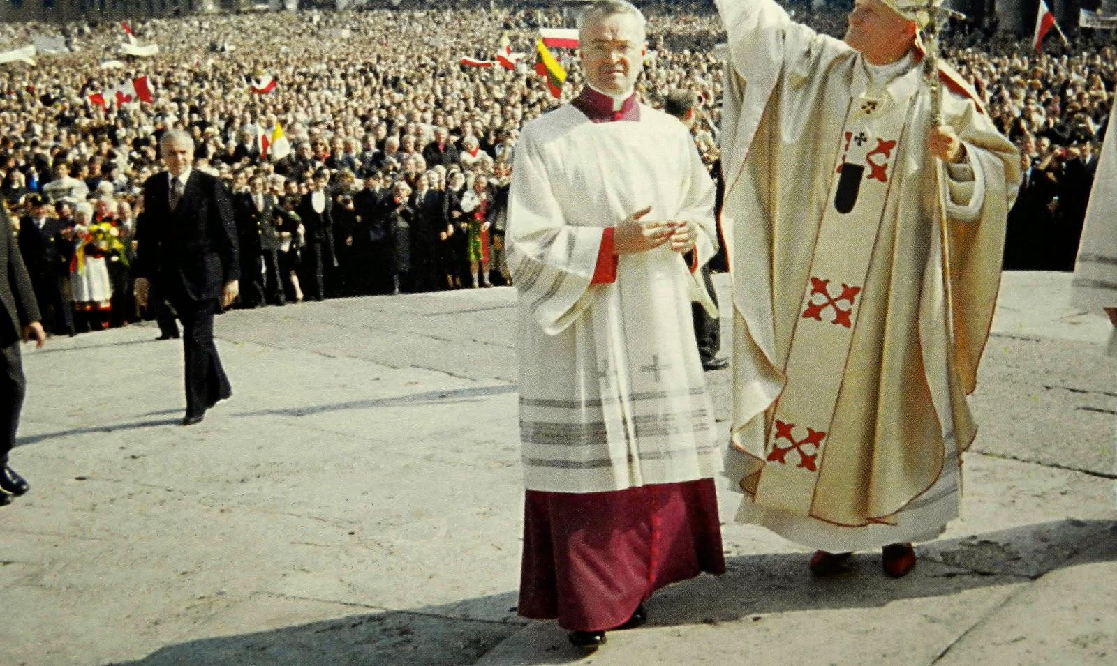 St. John Paul II at his inauguration Mass